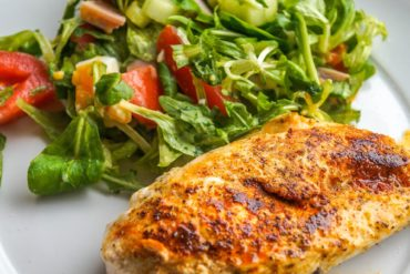 chicken breast filet and salad